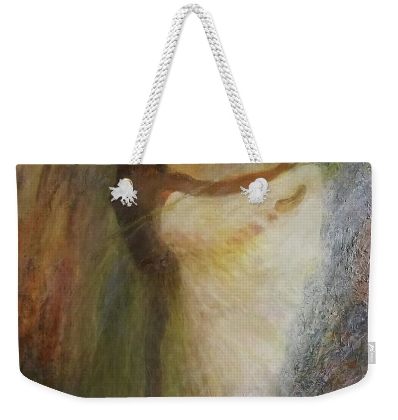 Dance Weekender Tote Bag featuring the painting Ballet Dancer's Silhouette by Sylva Zalmanson