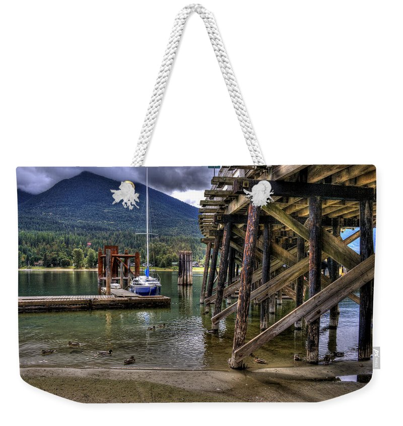 British Columbia Weekender Tote Bag featuring the photograph Balfour British Columbia by Lee Santa