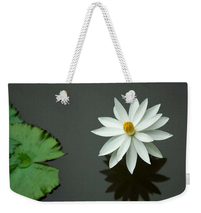 Bali Weekender Tote Bag featuring the photograph Bali Flower by Lee Craker
