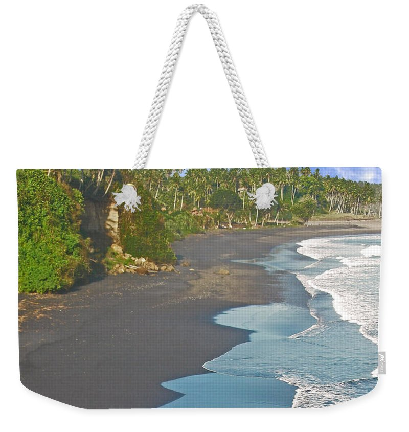 Bali Weekender Tote Bag featuring the photograph Bali Western Shore by Mark Sellers