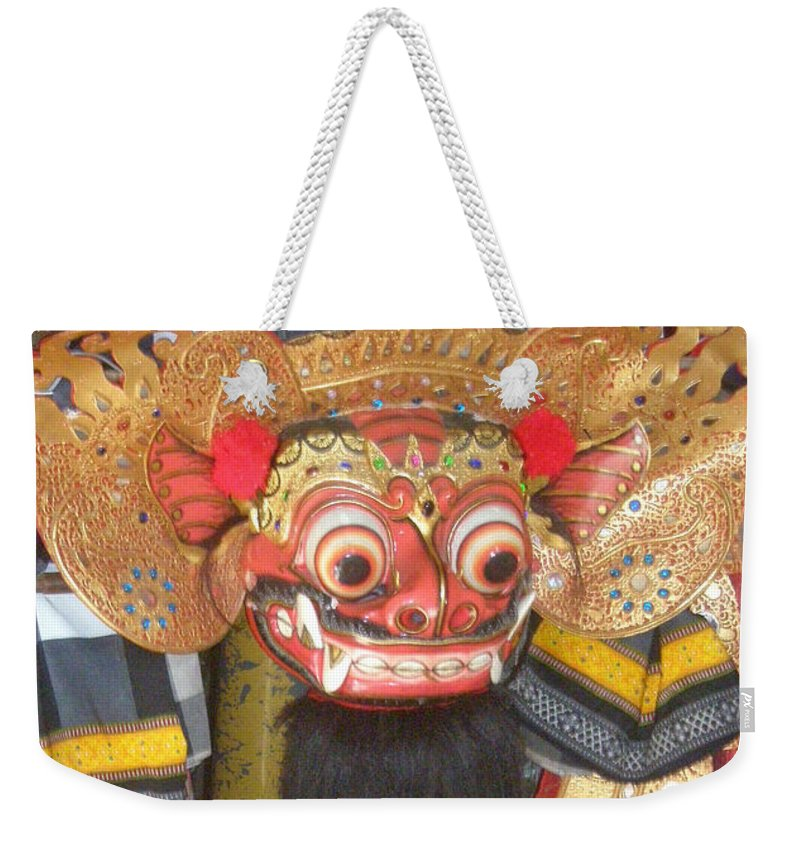 Bali Weekender Tote Bag featuring the photograph Balinese Barong by Mark Sellers