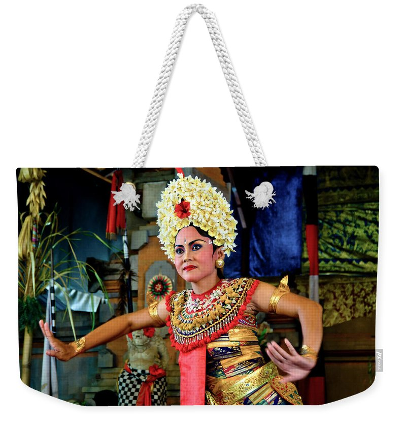 Bali Weekender Tote Bag featuring the photograph Balinese Dancer by Lee Craker
