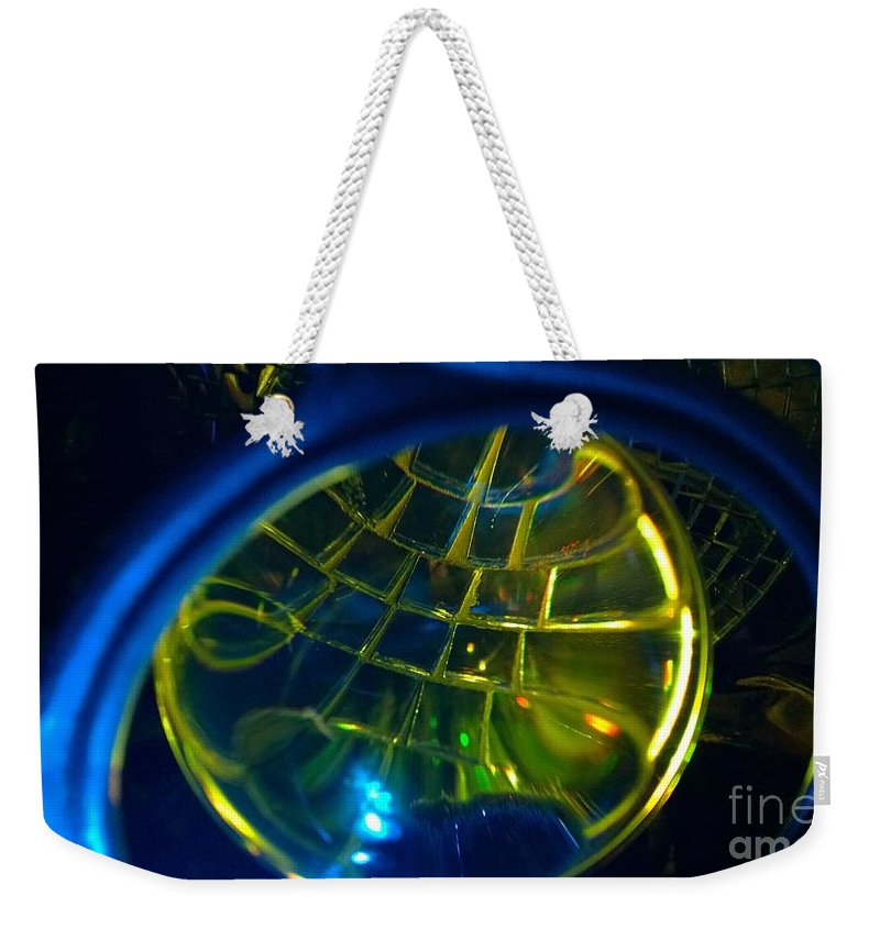 Weekender Tote Bag featuring the painting Ball Of Color by Judy Henninger