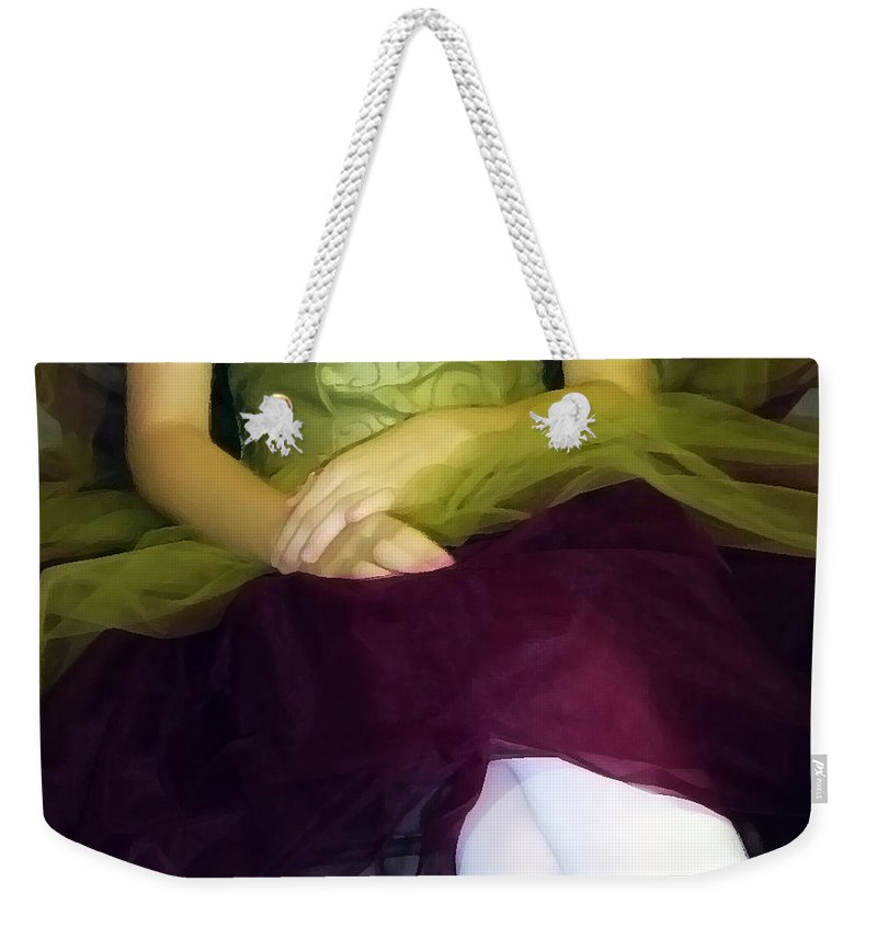Abstract Weekender Tote Bag featuring the photograph Ballerina Lap by Angelina Vick