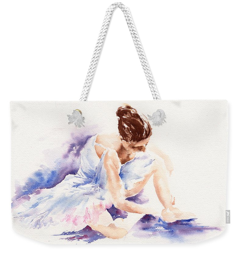 Ballerina Weekender Tote Bag featuring the painting Ballerina by Stephie Butler