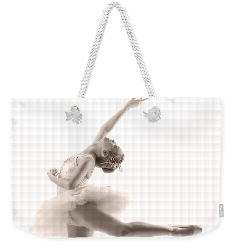 Ballerina Weekender Tote Bag featuring the photograph Ballerina by Steve Williams