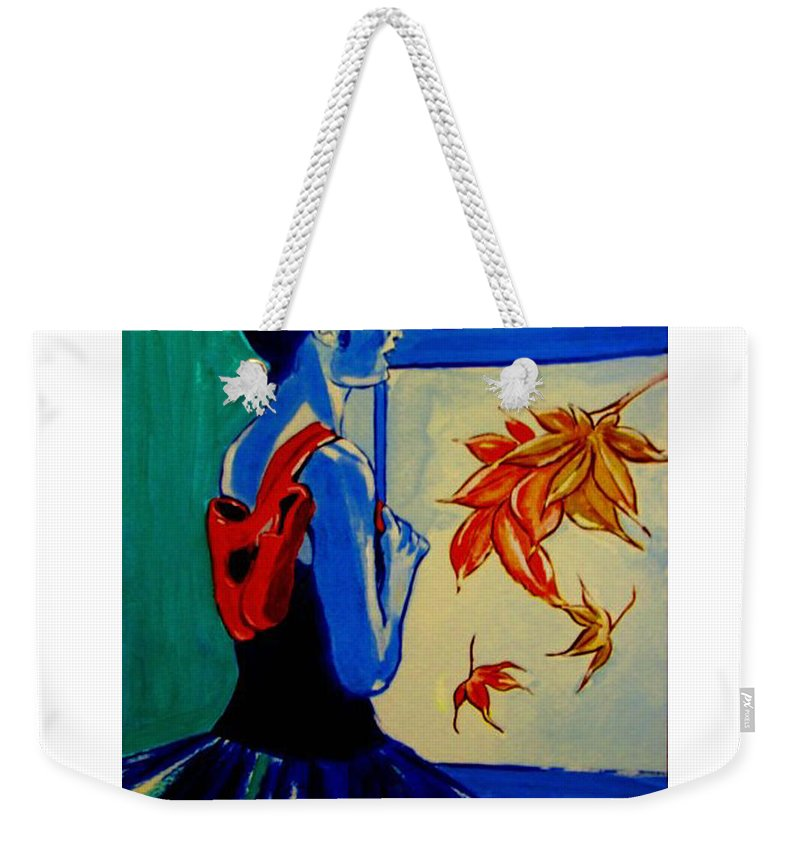 Classical Dancers Weekender Tote Bag featuring the painting Ballerine En Automne by Rusty Gladdish