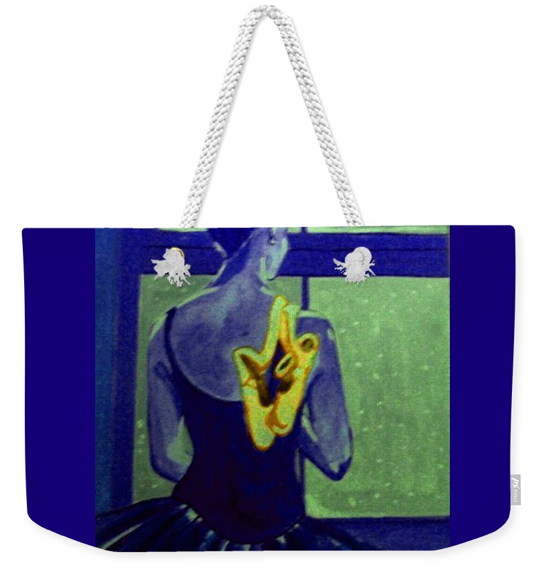 Ballet Dancers Weekender Tote Bag featuring the painting Ballerine En Hiver by Rusty Gladdish