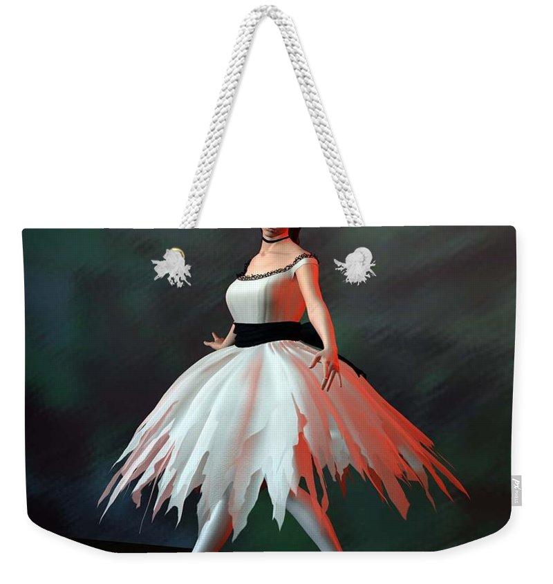 Ballet Weekender Tote Bag featuring the digital art Ballet Dancer by John Junek