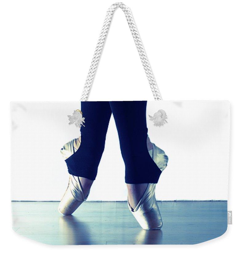 Ballet Weekender Tote Bag featuring the photograph Ballet Feet 1 by Scott Sawyer
