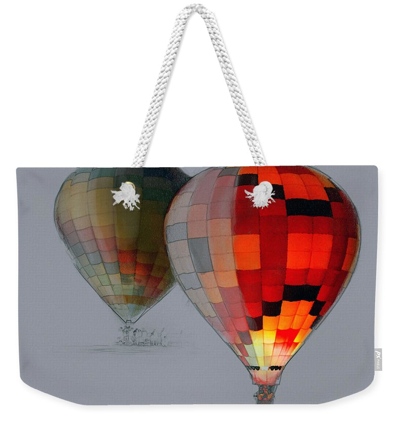 Balloon Weekender Tote Bag featuring the photograph Balloon Glow by Sharon Foster