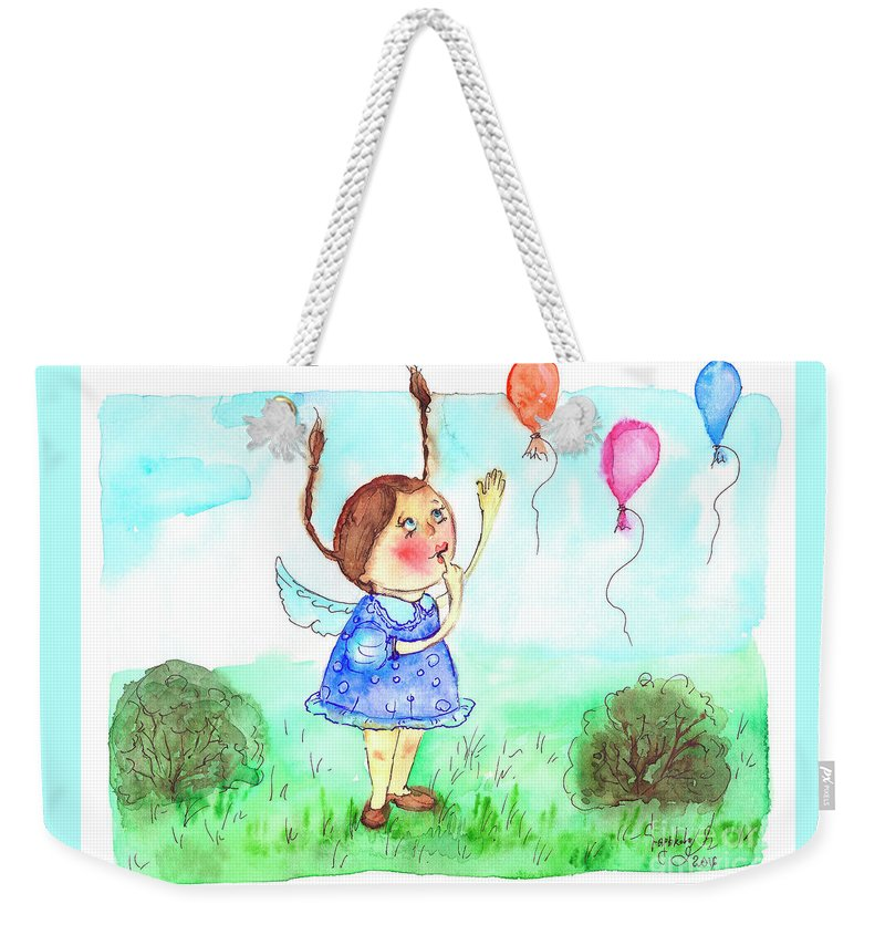 Balloons Weekender Tote Bag featuring the painting Balloons by Yana Sadykova