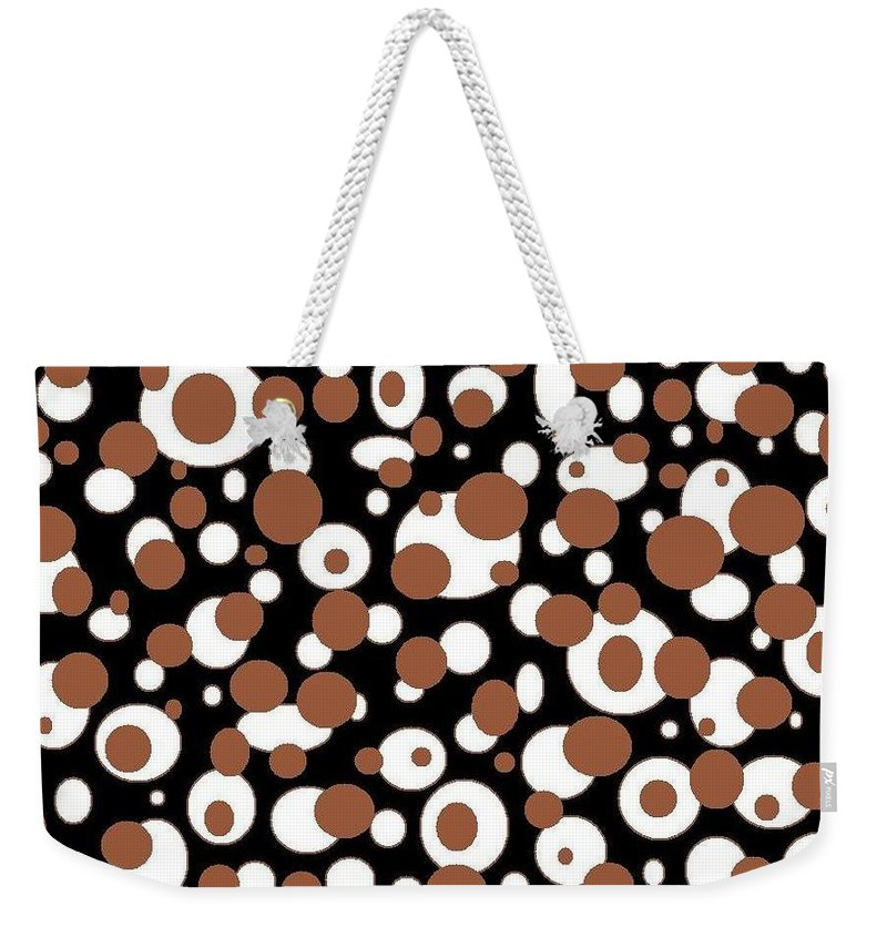 Weekender Tote Bag featuring the digital art Balls by Jordana Sands