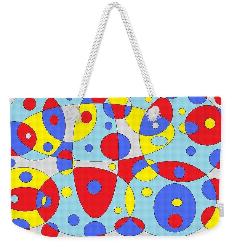 Weekender Tote Bag featuring the digital art Baloony by Jordana Sands