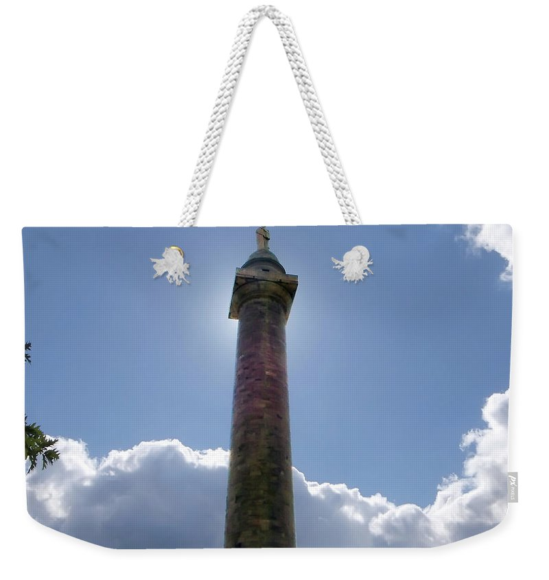 2d Weekender Tote Bag featuring the photograph Baltimore's Washington Monument by Brian Wallace