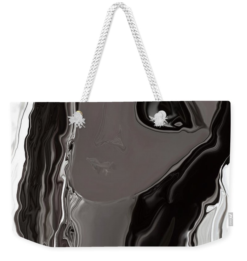 Abstract Weekender Tote Bag featuring the digital art Banalata Sen by Rabi Khan