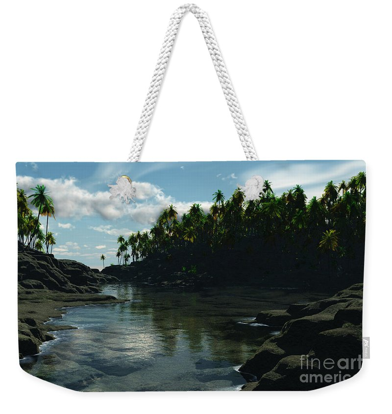 Rivers Weekender Tote Bag featuring the digital art Banana River by Richard Rizzo