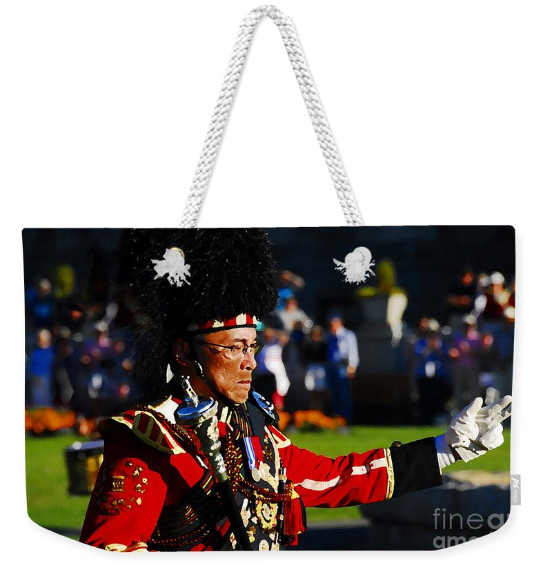 Band Leader Weekender Tote Bag featuring the photograph Band Leader by David Lee Thompson
