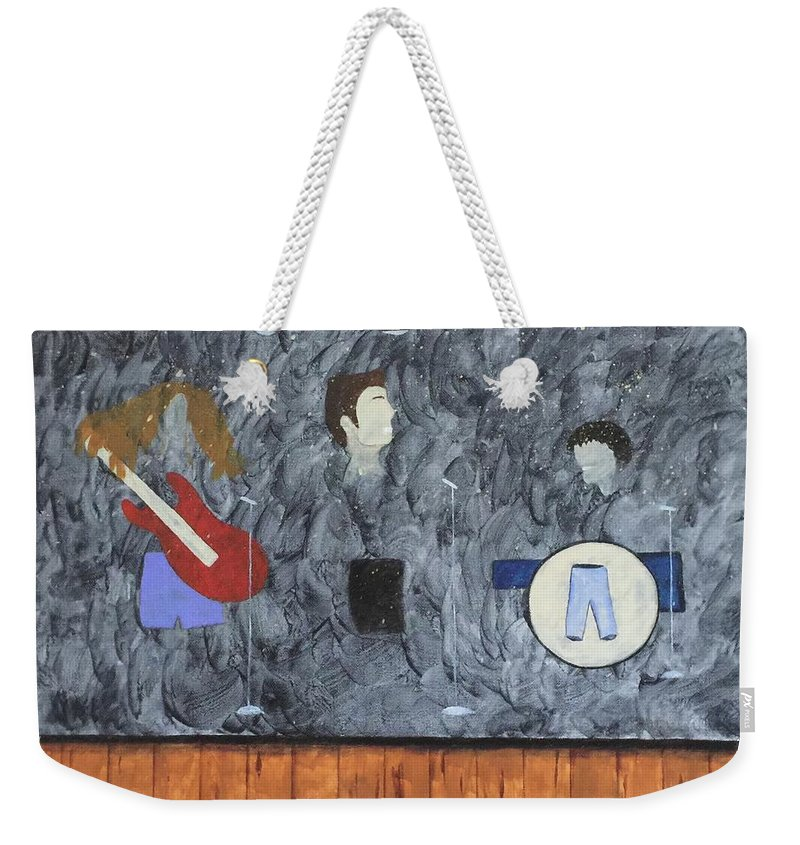 Band Weekender Tote Bag featuring the painting Band by Marcy Allen