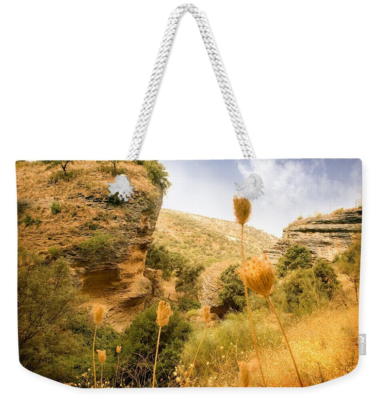 Spain Weekender Tote Bag featuring the photograph Bandit Country Near The Edge Of The Fan In Ronda Area Andalucia Spain by Mal Bray
