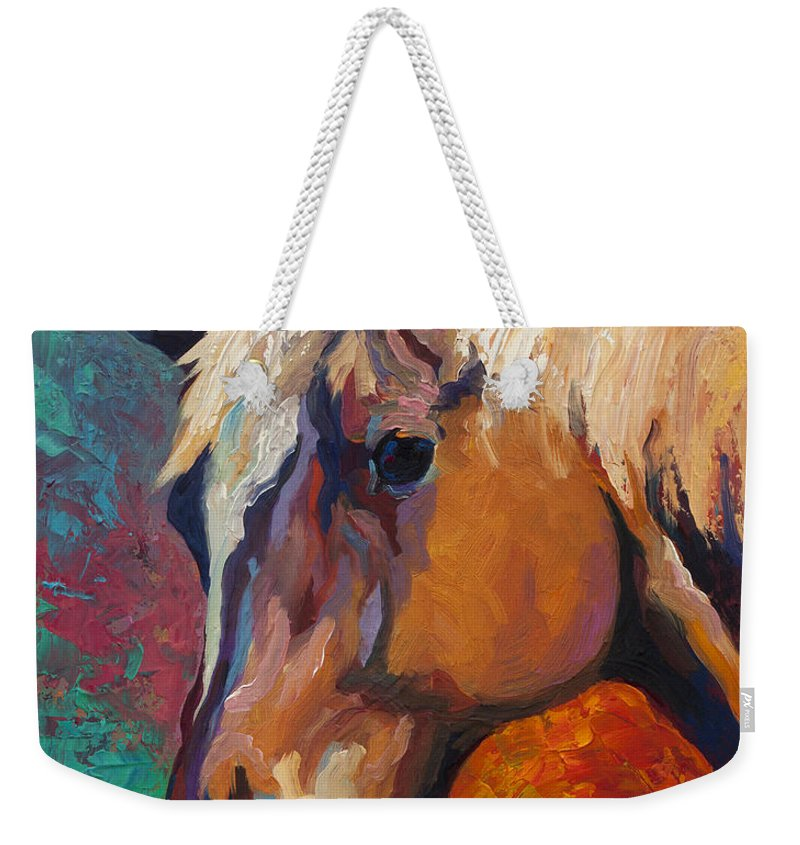 Horses Weekender Tote Bag featuring the painting Bandit by Marion Rose