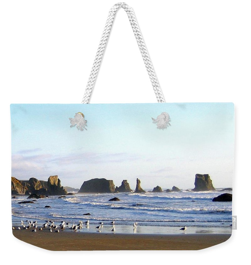 Seascape Weekender Tote Bag featuring the photograph Bandon 36 by Will Borden