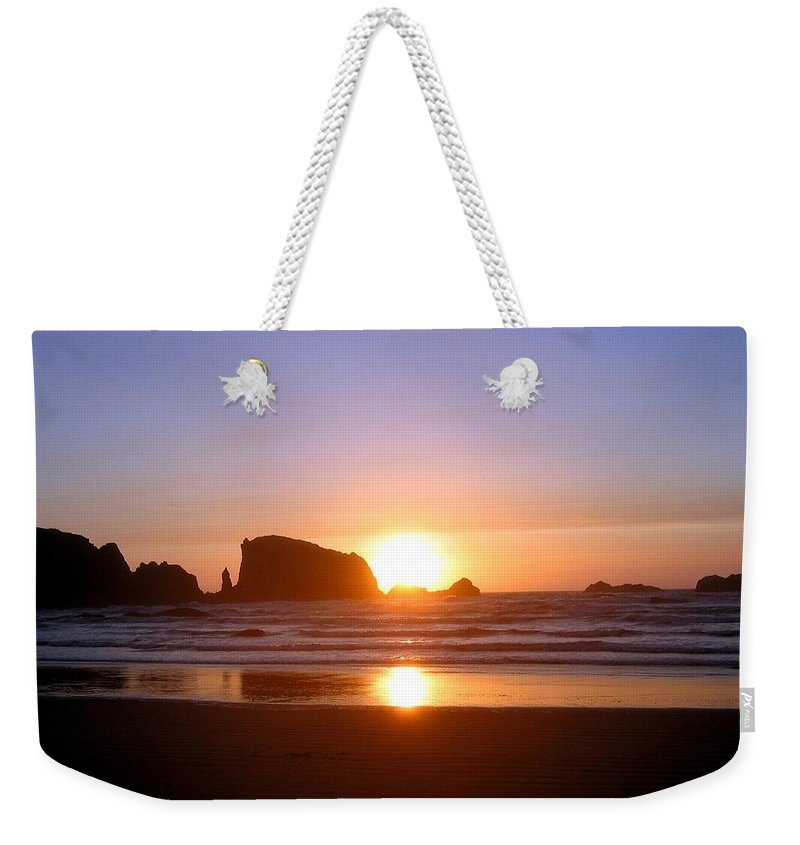 Bandon Weekender Tote Bag featuring the photograph Bandon 7 by Will Borden