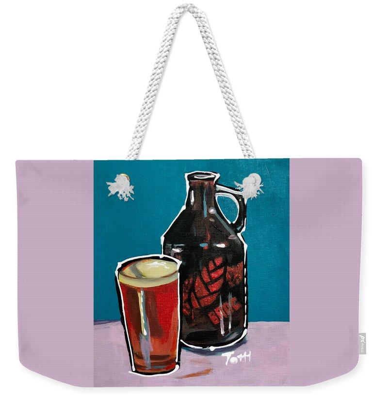 Bang Weekender Tote Bag featuring the painting Bang by Laura Toth