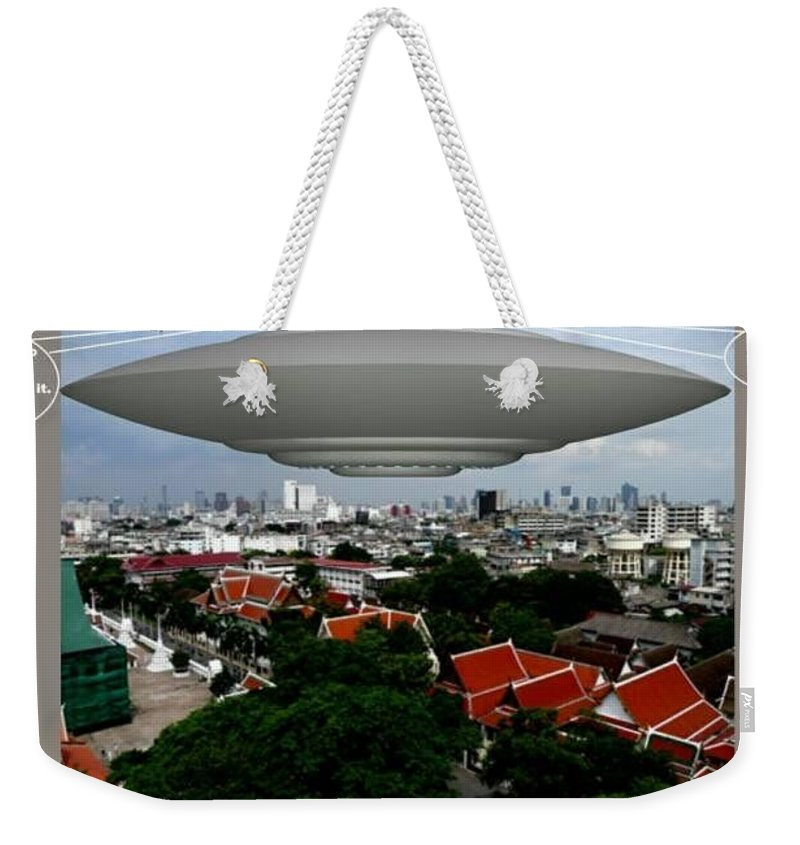 Alien Nutz Comics Weekender Tote Bag featuring the mixed media Bangkok 3 by Robert aka Bobby Ray Howle