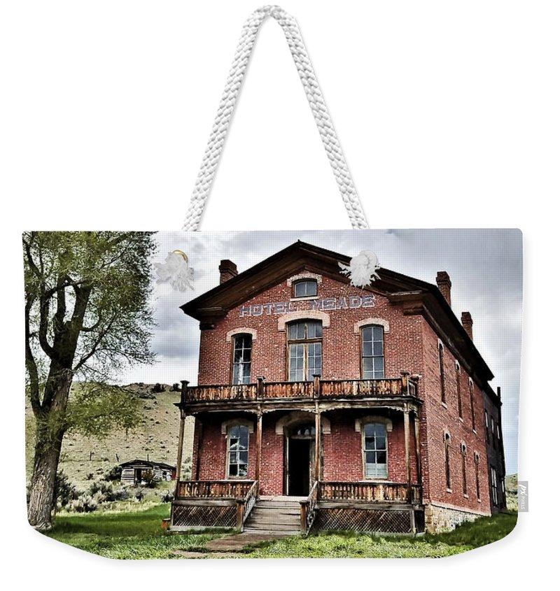 Bannack Montana Weekender Tote Bag featuring the digital art Bannack Mt. 7 by Susan Kinney