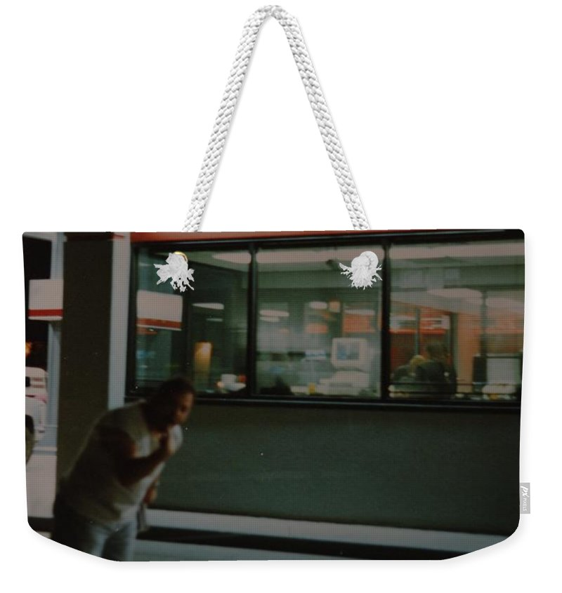Funny Weekender Tote Bag featuring the photograph Bar F by Rob Hans
