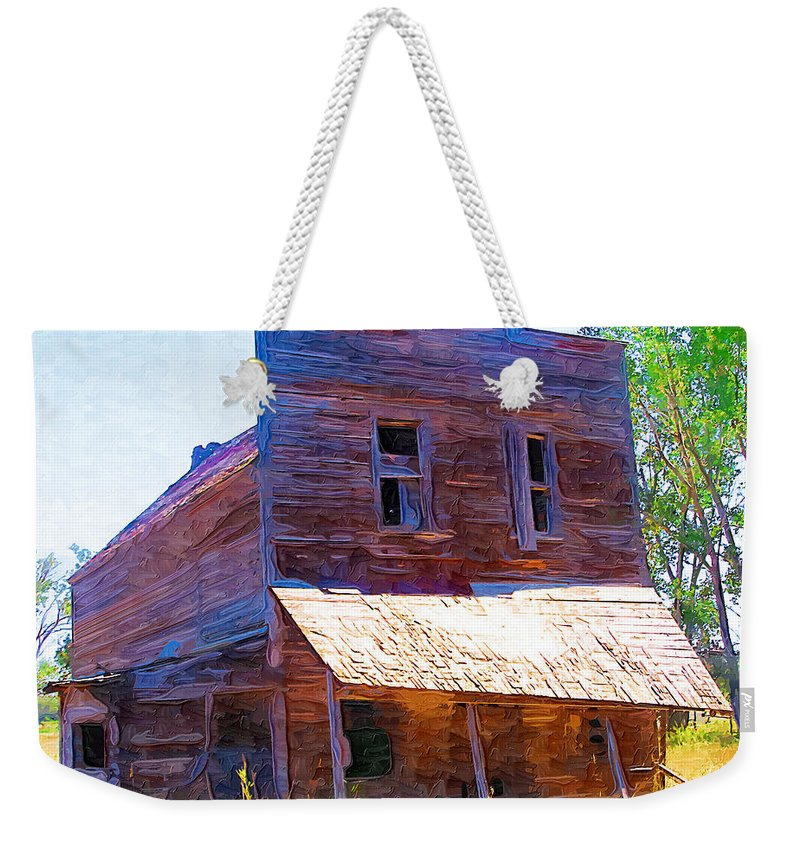 Barber Montana Weekender Tote Bag featuring the photograph Barber Store by Susan Kinney