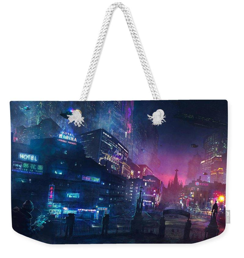 Cyberpunk Weekender Tote Bags