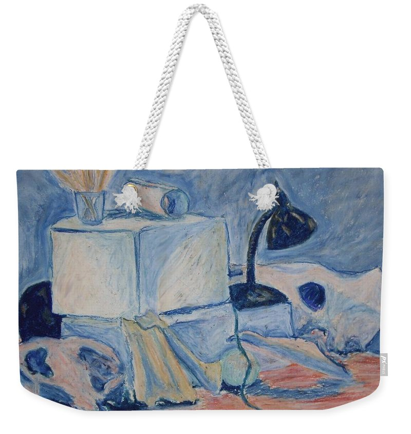 Still Life Weekender Tote Bag featuring the pastel Bare Bones by Jean Haynes