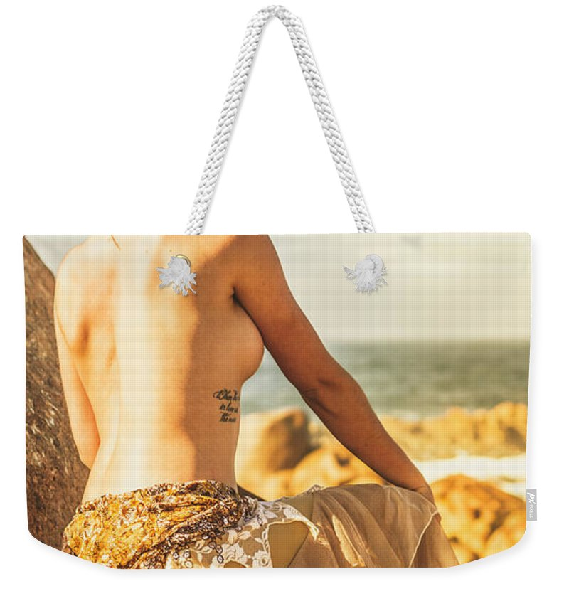 Fine Art Weekender Tote Bag featuring the photograph Bare Elegance by Jorgo Photography - Wall Art Gallery