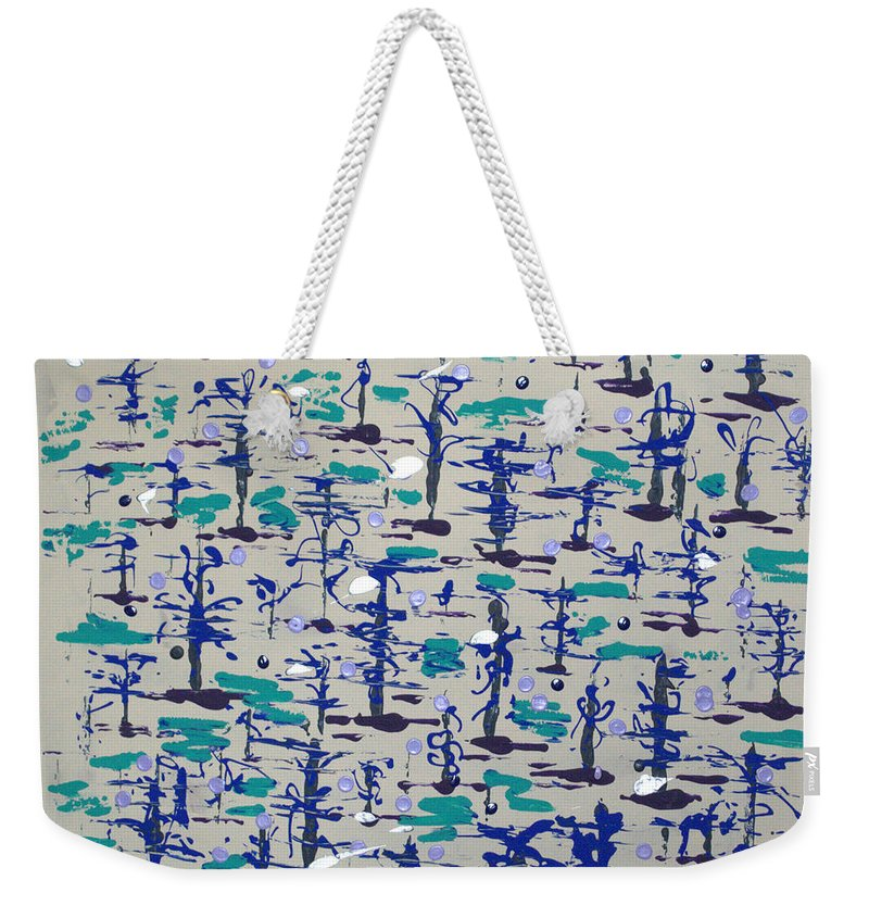 Abstract Weekender Tote Bag featuring the painting Bare Trees by J R Seymour