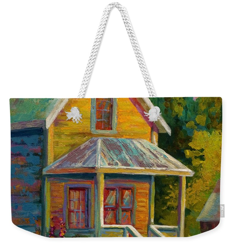 Historic Weekender Tote Bag featuring the painting Barkerville Orphan by Marion Rose