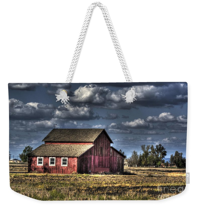 Barn Weekender Tote Bag featuring the photograph Barn After Storm by Jim And Emily Bush