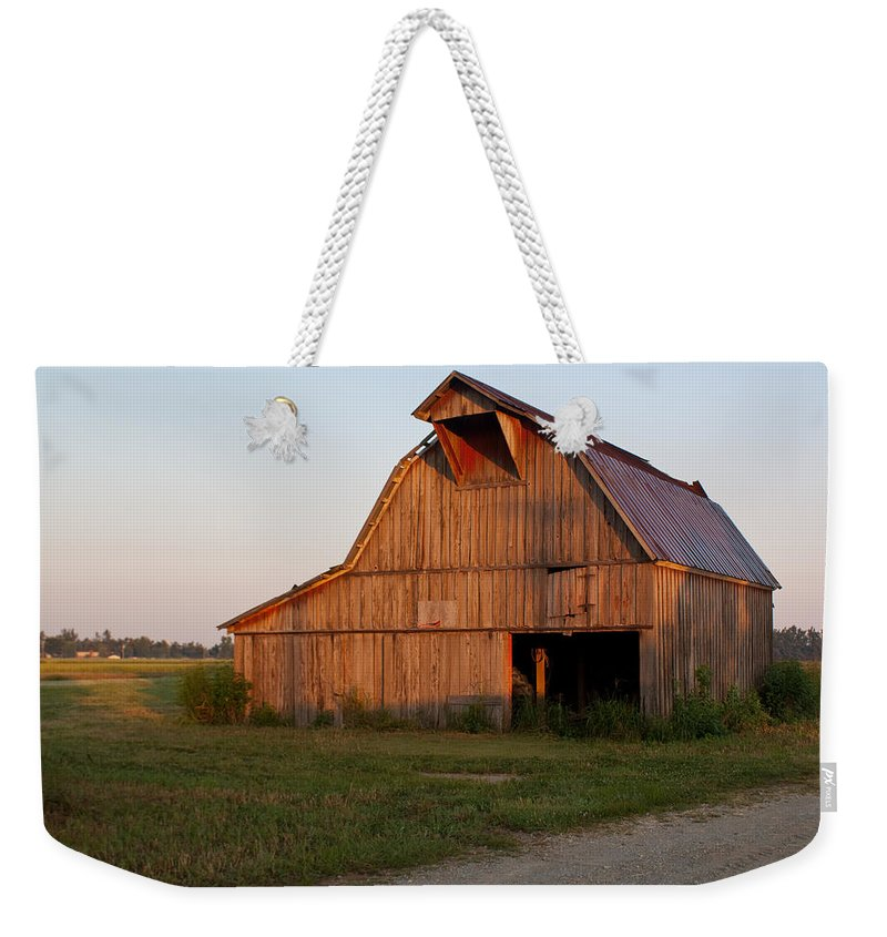Barn Weekender Tote Bag featuring the photograph Barn At Early Dawn by Douglas Barnett