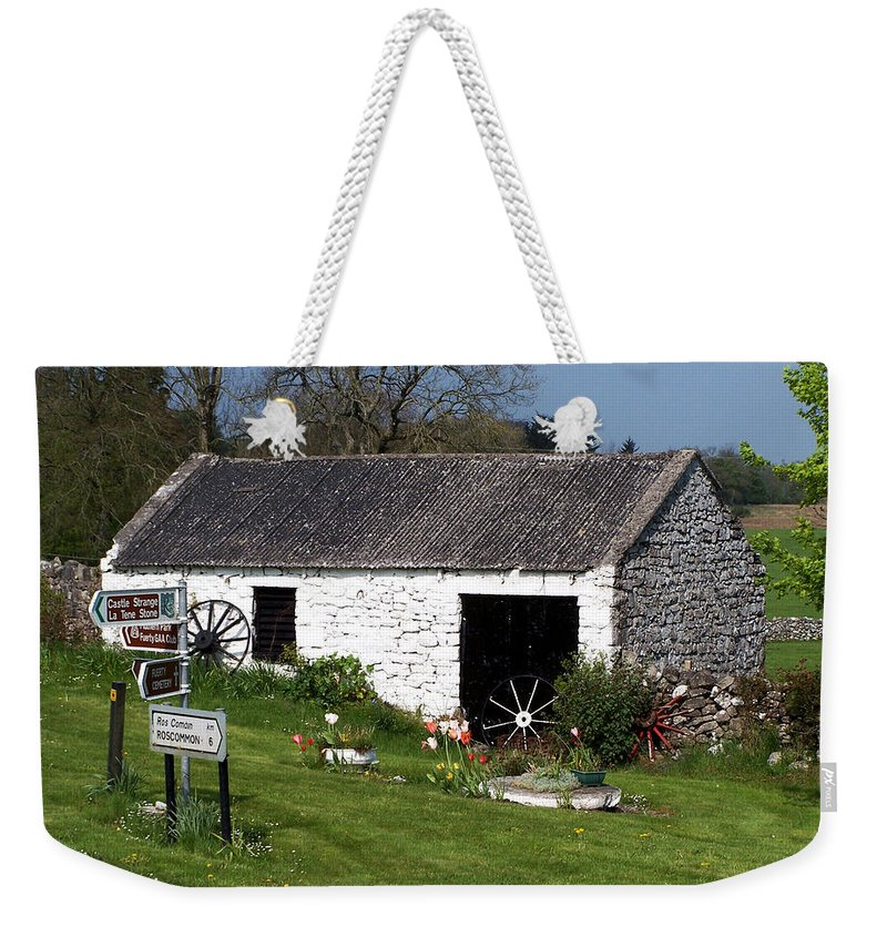 Ireland Weekender Tote Bag featuring the photograph Barn At Fuerty Church Roscommon Ireland by Teresa Mucha
