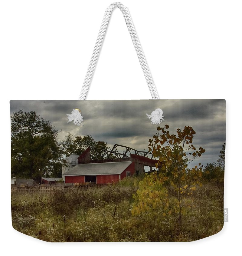 Fall Weekender Tote Bag featuring the photograph Barn by Gaby Swanson