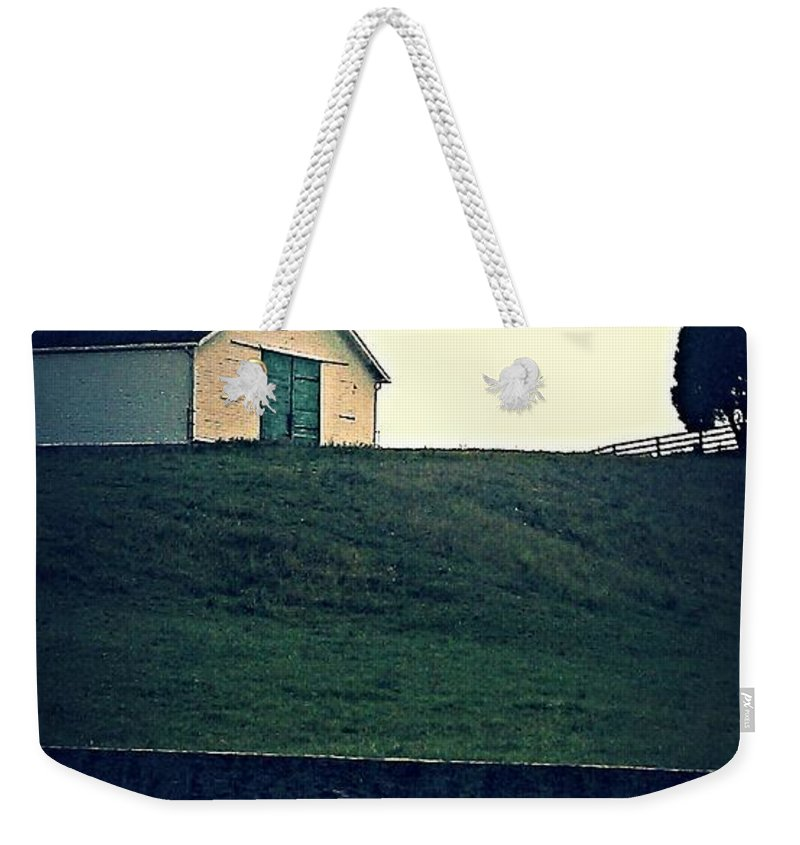 Building Weekender Tote Bag featuring the photograph Barn by Kathy Barney