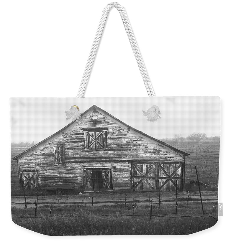 Barn Weekender Tote Bag featuring the photograph Barn Of X by Tom Reynen