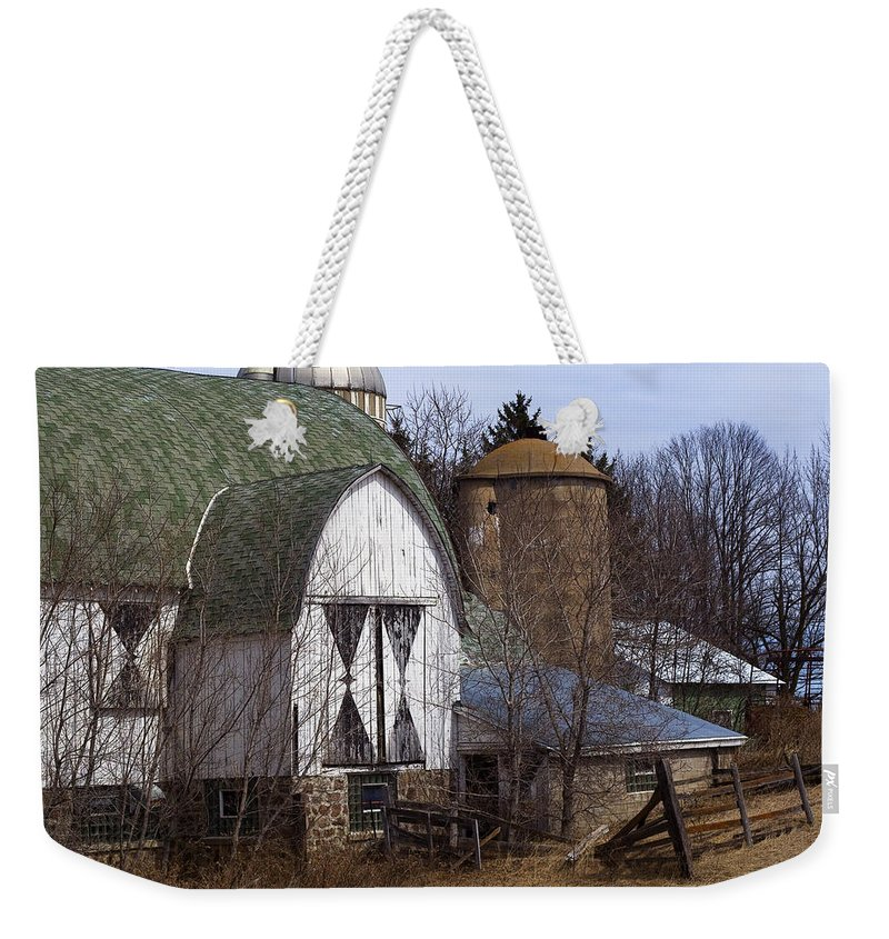 Barn Weekender Tote Bag featuring the photograph Barn On 29 by Tim Nyberg