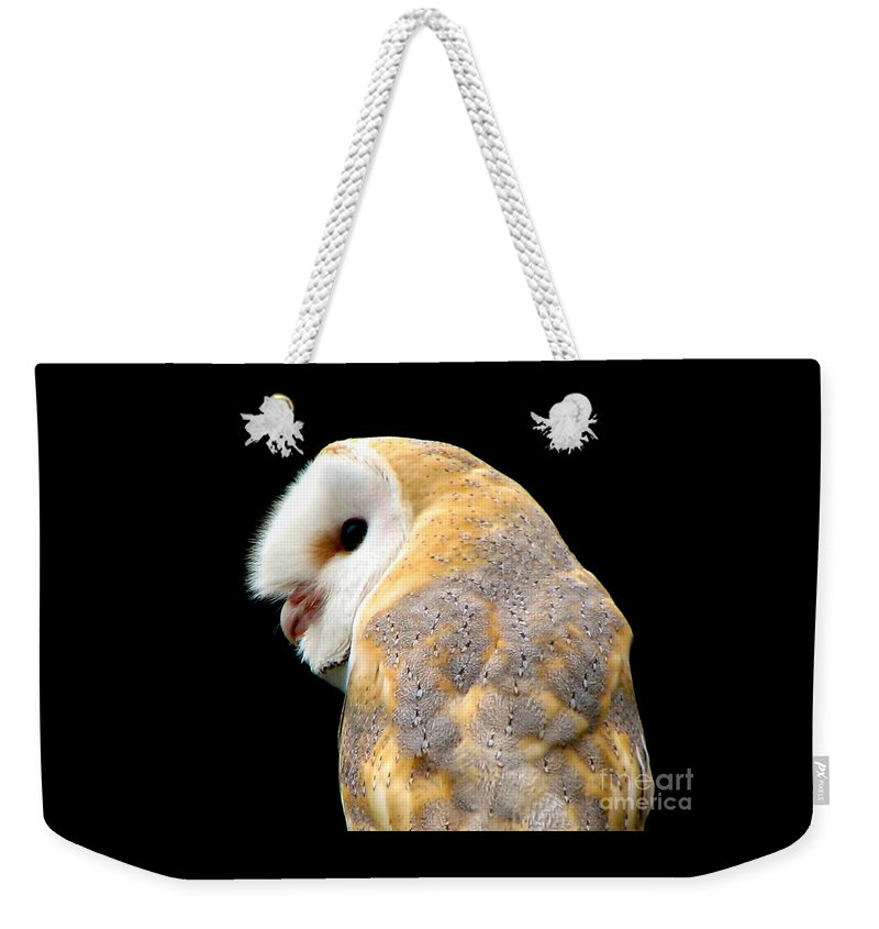 Birds Weekender Tote Bag featuring the photograph Barn Owl by Rose Santuci-Sofranko