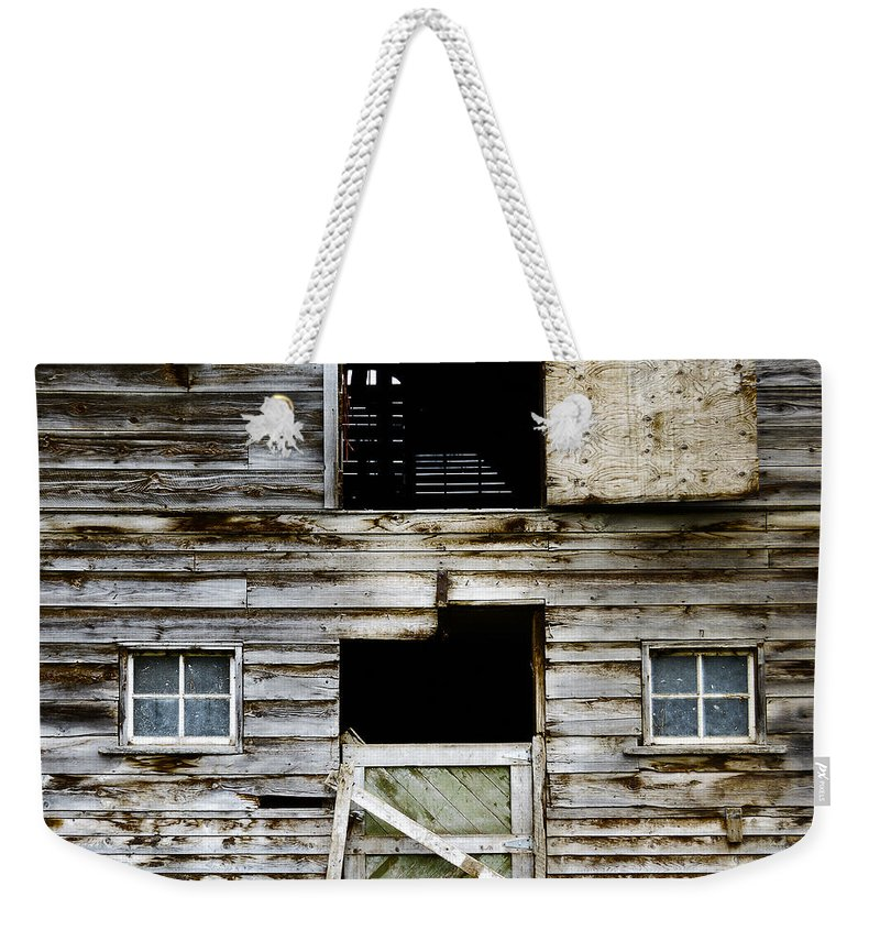 Barn Weekender Tote Bag featuring the photograph Barn Side by Wayne Sherriff