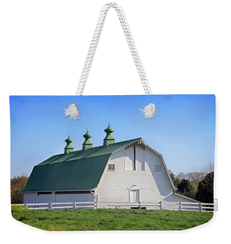 Landscape Weekender Tote Bag featuring the photograph Barn by Todd Blanchard