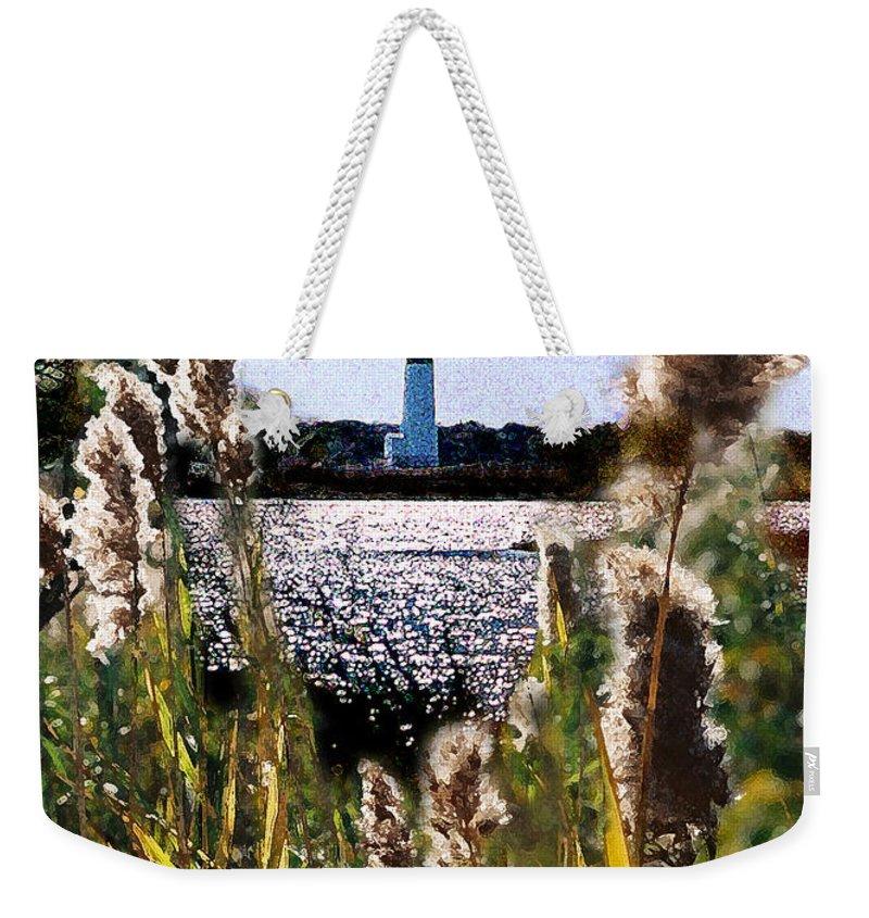 Barnegat Weekender Tote Bag featuring the digital art Barnegat Bay by Steve Karol