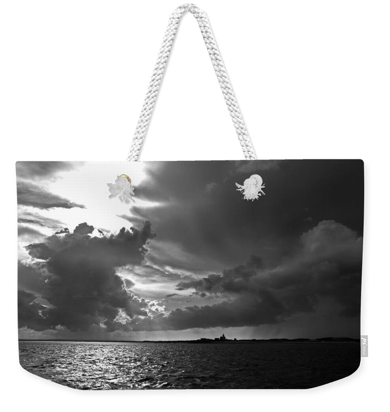 Barnstable Weekender Tote Bag featuring the photograph Barnstable Harbor Sky by Charles Harden