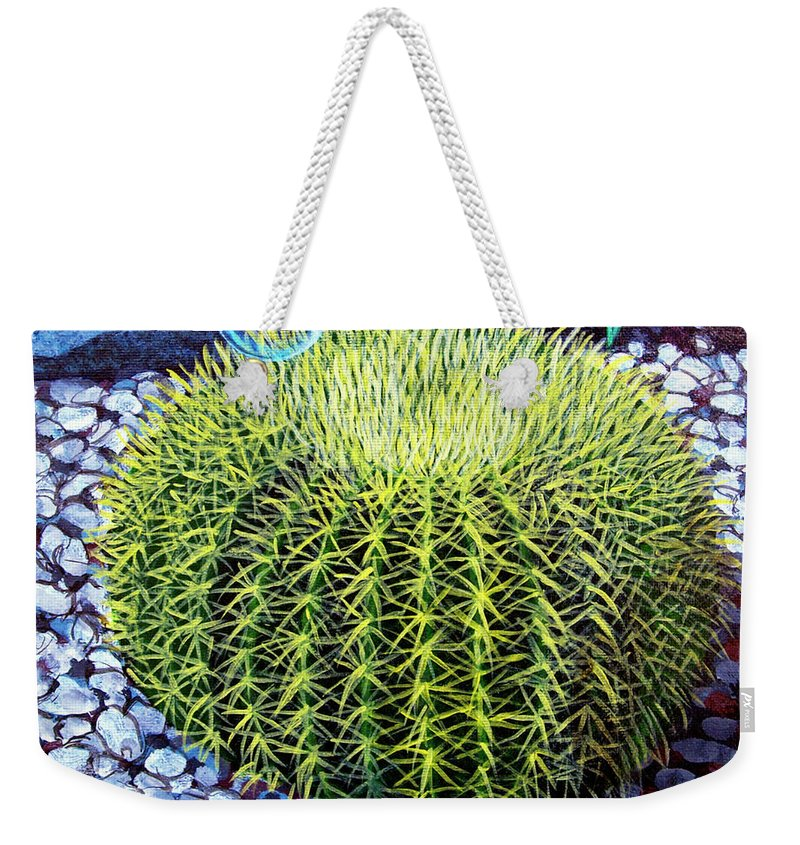 Nature Weekender Tote Bag featuring the painting Barrel Bubble by Snake Jagger